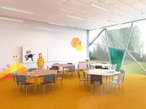 Primary school interior
