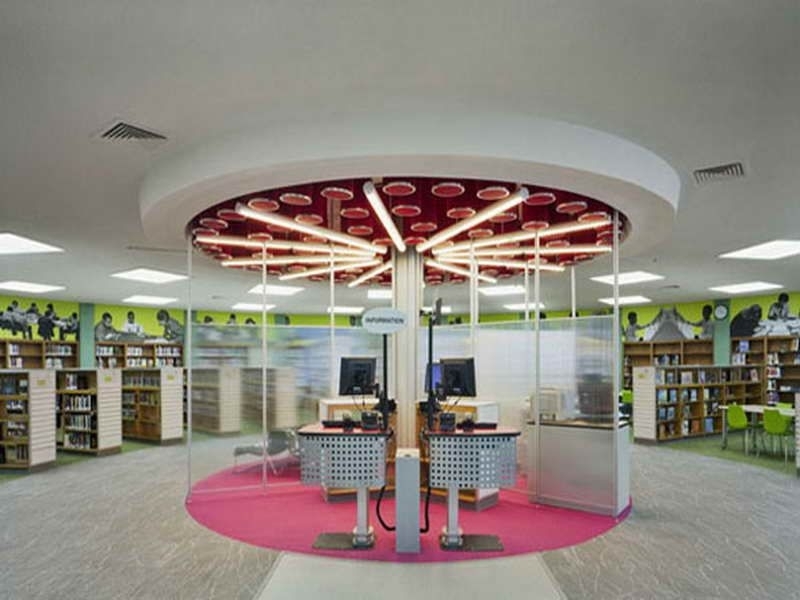 School Library Interior