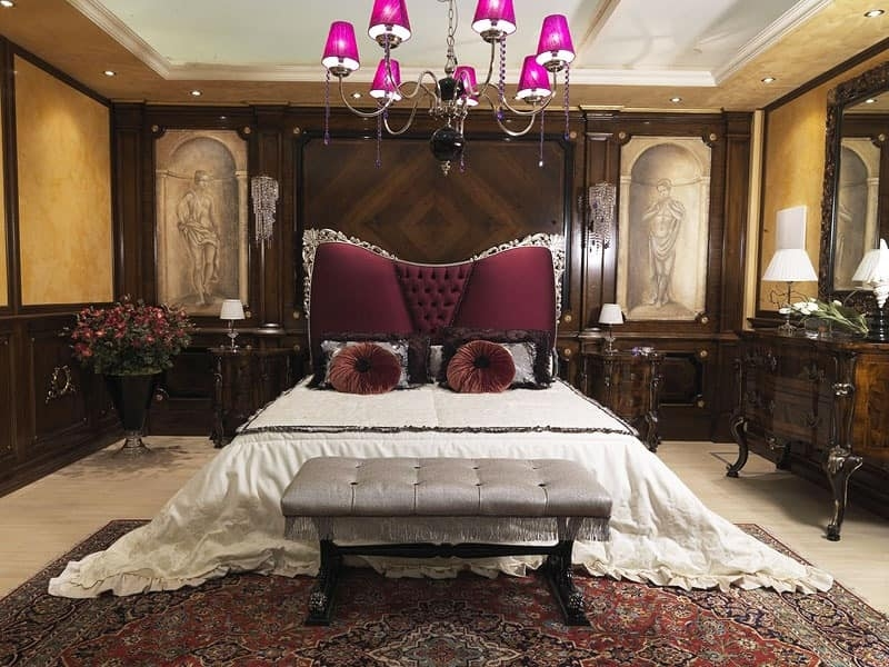 Luxury Bed With Upholstered Headboard