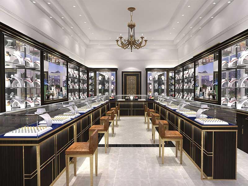 Antique Luxury Jewelry Shop Decoration