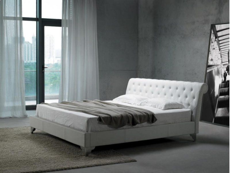 Modrest San Remo Leatherette Modern Bed
