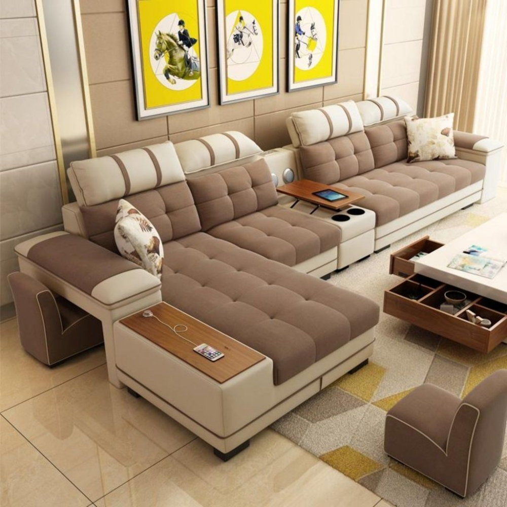 Modern style fabric sofa