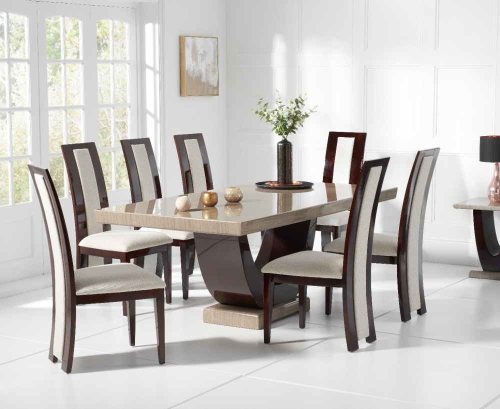 Latest design marble dining table 7 seater