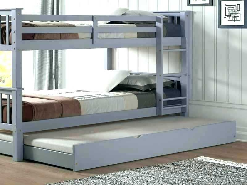 White Wood Trundle Bed