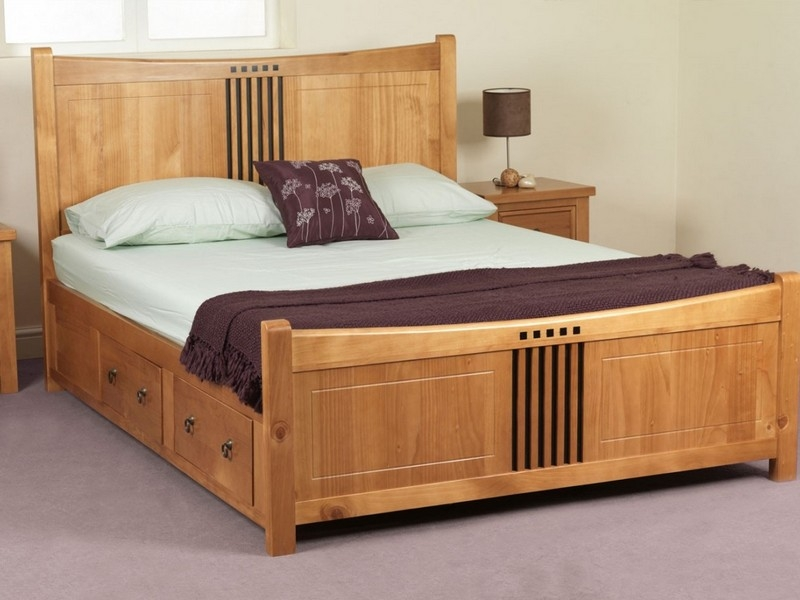 Stylish Wooden King Size Bed