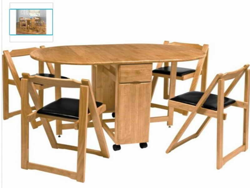 Warm Wooden Dining Furniture For Folding