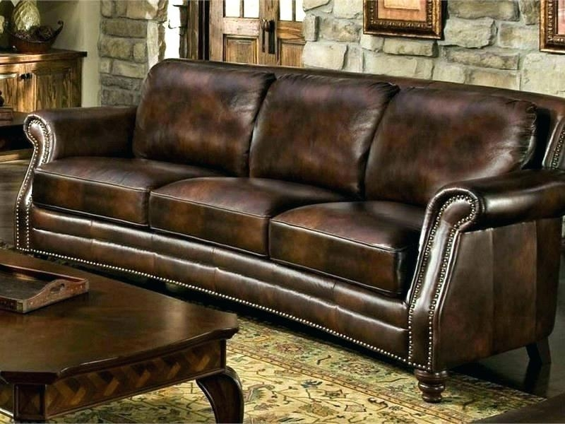 Leather Sofa With Nail Head