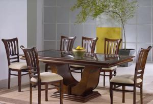 Walnut Veneer luxury dining table Manufacturers in Delhi