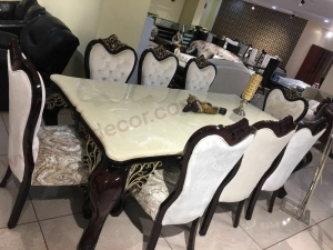 Onyx marble dining