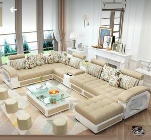 L shape sofa set Modern Design Sofa with premium Leather right living room furniture