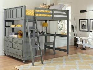 Loft Bed Grey