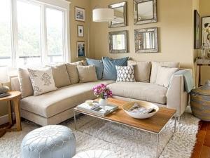 Beige iving room design