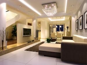 Luxury living room interior design in Delhi