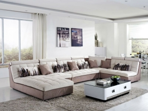 Wooden Fabric U Shaped Sectional Sofas Manufacturers in Delhi