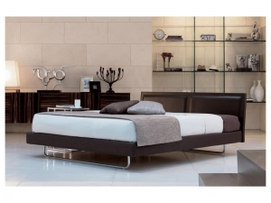 Modern Bed With Leather Headboard Manufacturers in Delhi