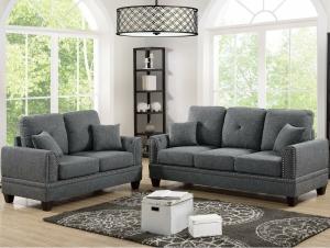 Leather sofa set 6 seatar