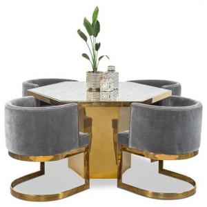 Gold Finish Round Dining Table Manufacturers in Delhi