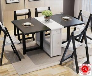 Stylish folding dining table 6 seater