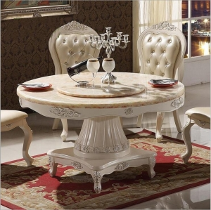 Modern Style Italian Dining Table Solid Wood Italy Style Luxury round Dining Table set