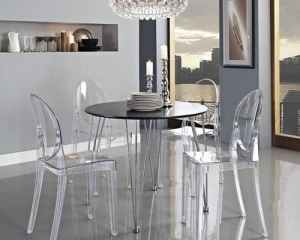 OLWIN Classy Acrylic Dining Table Set