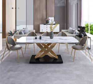 Luxury metal dining table 6 seatar