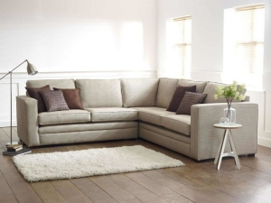 Modern White L-shaped Sofa