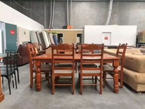7 Pcs Strong Solid Wood Dining Table in Delhi