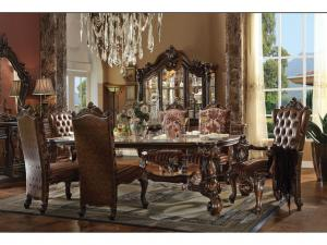 Antique wooden dining table design