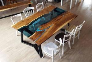Epoxy dining Table Top