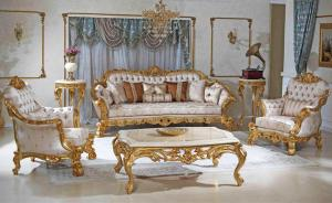 Gold finish Luxury Royal sofa set Manufacturers in Delhi