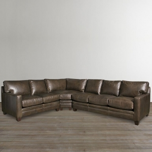 Sleeper L Shaped Sectional in Custom Upholstery