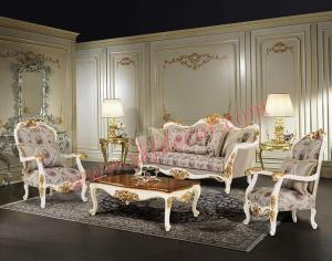 White and gold Royal sofa set Manufacturers in Delhi