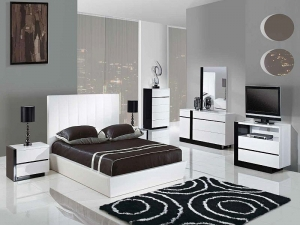Black And White Themed Bedroom Manufacturers in Delhi