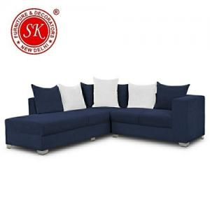 Blue L Shape Sofa Set Manufacturers in Delhi