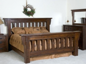 Rustic Wood Bed Manufacturers in Delhi