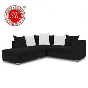L Shape Black Sofa Set Manufacturers in Delhi