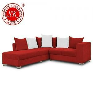 Red L Shape Sofa Set
