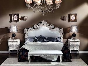 Carved Upholstered Bed