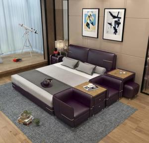 Smart bed with 2 Modern room chair Manufacturers in Delhi