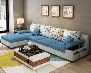 Light Blue Luxury sofa set Manufacturers in Delhi