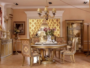 Exclusive Gold Finish Royal Dining Table