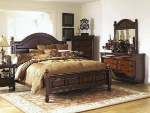 Carved Wood Bed