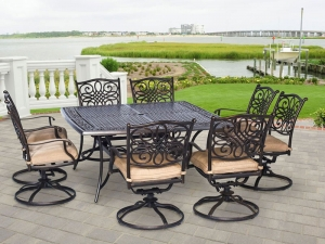 Hanover TRADDN9PCSWSQ8 Traditions 9Piece Rust-Free Aluminum Patio Dining Set  Manufacturers in Delhi
