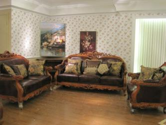 Antique Leather Sofa With Oak Wood Manufacturers in Karnal