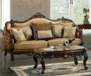 Antique Leather Sofa With teak Wood Manufacturers in Darbhanga