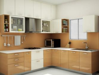 Baron l shaped modular kitchen Manufacturers in Agra