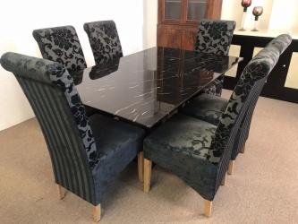 Black marble modern Dining Set Manufacturers in Ahmednagar