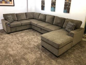 Brown Chenille U-Shaped Sectional Sofa Manufacturers in Agra
