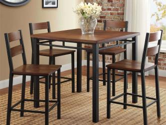 Counter Height Dining Set Table And 4 Chairs Durable Metal Construction Manufacturers in Surat