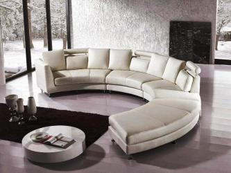 Curved Leather Sectional Sofa Manufacturers in Ahmedabad